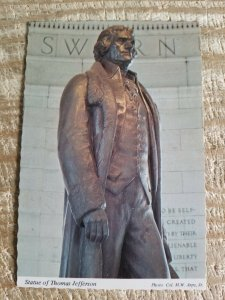 STATUE OF THOMAS JEFFERSON WASHINGTON DC.VTG UNUSED POSTCARD*P11