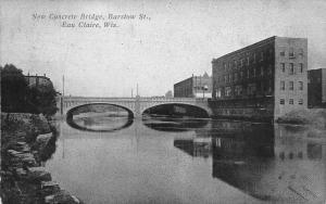 Eau Claire Wisconsin~New Concrete Bridge~Arches Reflect~Business College~1909