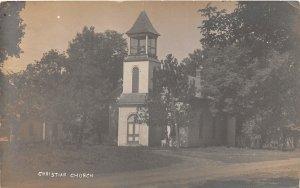 G41/ Nemaha Nebraska RPPC Postcard 1912 Christian Church Building