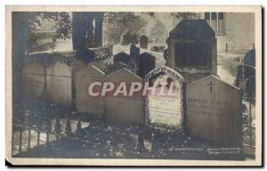 Cumbria-England-Angletarre-Grasmere William Wordwoth & # 39s Grave -Carte Old...