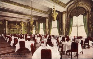 LOUISVILLE KY The Seelbach Main Dining Room c1910 Postcard