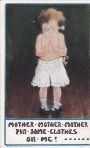 Topless Girl Mother Mother Mother Pin Some Clothes On Me!.. 1906