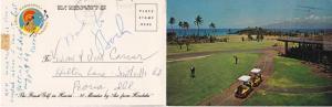 Royal Kaanapali Golf Club Hawaii - Double postcard and Golf Scorecard