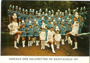 Amicale des Majorettes de Saint Avold, 1972 used Postcard