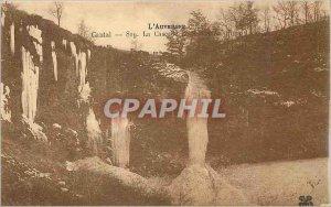 Old Postcard Cantal La Cascade