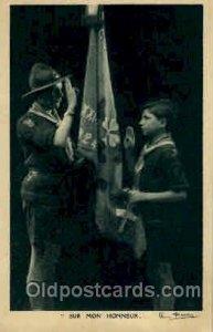 Troupes De La Manecanterie Des, Boy & Girl Scout, Scouting writing on back
