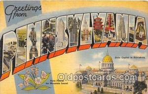 Linen Pennsylvania, USA Postcard Post Cards Pennsylvania, USA Linen