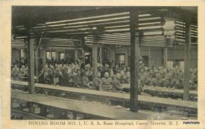 C-1918 Military Dining Room Base Hospital Camp Merritt New Jersey Simon 2277