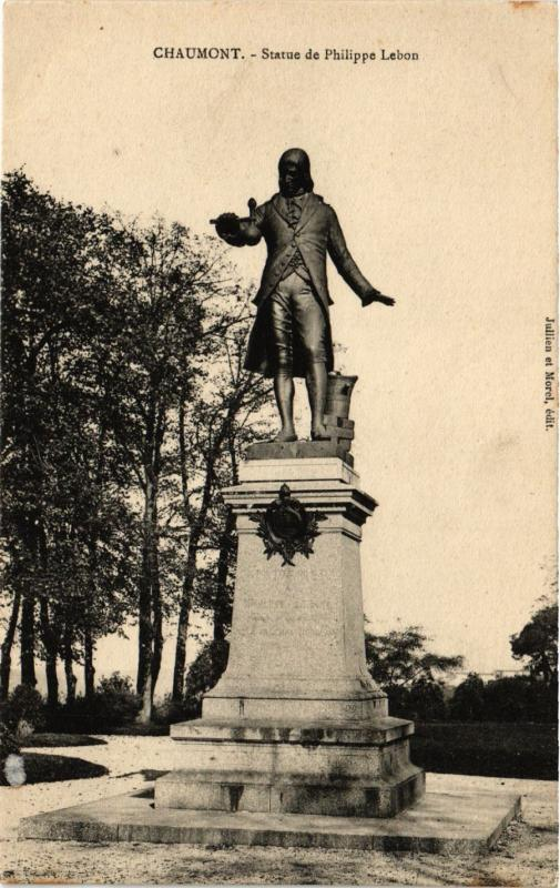 CPA   Chaumont - Statue de Philippe Lebon  (430779)