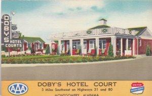 Alabama Montgomery Doby's Hotel Court sk2830
