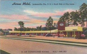 Florida Jacksonville Horne Motel U S 1 South Side At City Limits