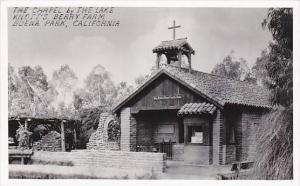 California Buena Park Knotts Berry Farm Chapel By The Lake Real Photo RPPC