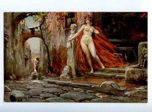 225103 NUDE WITCH & FAUN Pan DEMONS by PORFIROV vintage Russia