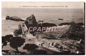 Old Postcard Biarritz S & # 39Esplanade And The Rock Of The Virgin