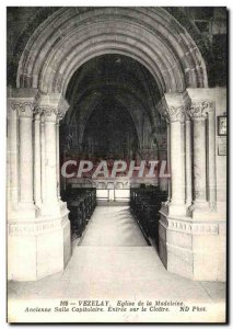 Old Postcard Vezelay Madeleine Church The Cloister and Chapterhouse Room Entr...