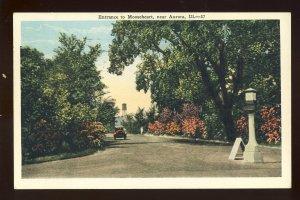 Aurora, Illinois/IL Postcard, Entrance To Mooseheart, Old Car