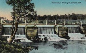 SIMCOE, Ontario, Canada, PU-1913; Brooks Dam, River Lynn, TUCK No. 1024