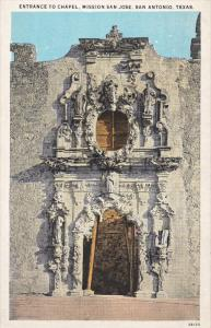 SAN ANTONIO, Texas, 1900-1910´s; Entrance To Chapel, Mission San Jose