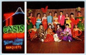HONOLULU, Hawaii HI ~ Japanese Talent? OASIS RESTAURANT Night Club  Postcard