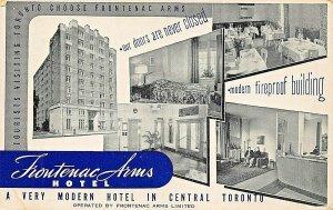 TORONTO ONTARIO CANADA~FRONTENAC ARMS HOTEL-A VERY MODERN HOTEL POSTCARD