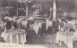 PARIS , France, 1900-1910s : Hotel Continental.-Le Restaurant