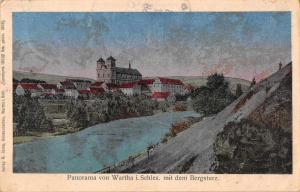 Wartha Bardo Poland Germany Panorama View Bergsturz Antique Postcard J72200