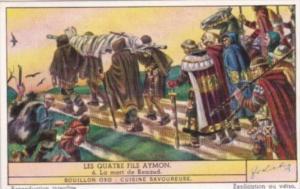 LIebig Trade Card S1452 Four Sons Of Aymon No 6 Le mort de Renaud