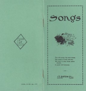 T. EATON Co. Songs Booklet , Winnipeg , Manitoba , Canada , 1953