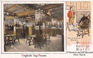 New York City Interior English Tap Room Prince George Hotel
