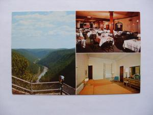 pre-1970 PENN-WELLS RESTAURANT & HOTEL Wellsboro PA Postcard y5772@