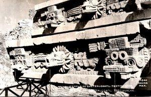 Mexico Teotihuacan Templo de Quetzalcoatl Real Photo