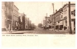 Nebraska  Freemont ,  6th Street Looking West
