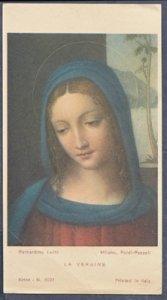 ITALY - LA VERGINE  The Virgin ... View shows painting by Bernardino Luini 1900s