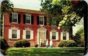 Vtg 1960s David Wilson Mansion Odessa Delaware DE Chrome Postcard