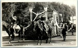 1921 Pasadena Tournament of Roses Parade RPPC Postcard Queen's Float Real Photo
