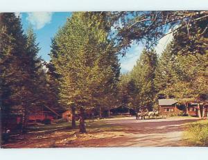 Unused Pre-1980 LODGE SCENE Wapiti - Near Cody Wyoming WY c5004