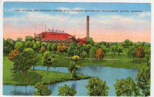View of Lake and Grounds around still- Hildreth Osteopathic Sanatorium, Macon...