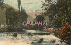 Old Postcard Luchon Pyrenees Fall of Pique and Bottom of Venasque