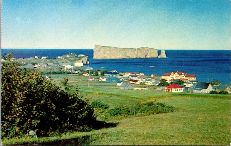 Perce Quebec Canada View from Hillside S.W. Postcard unused 1960s