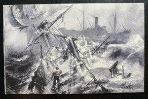 Mint Germany Picture Postcard PPC Last Moments Of An English Battle Ship