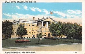 Muncie Indiana~Balls State College~1938 Postcard