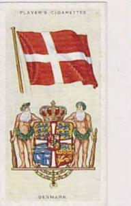 Player Vintage Cigarette Card National Flags & Arms No 13 Denmark  1936
