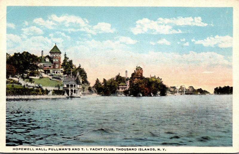 New York Thousand Islands Hopewell Hall Pullman's and T I Yacht Club 192...
