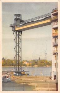 STOCKHOLM SWEDEN KATARINAHISSEN~LIFT~ENSAMRATT POSTCARD 1948 PSTMK
