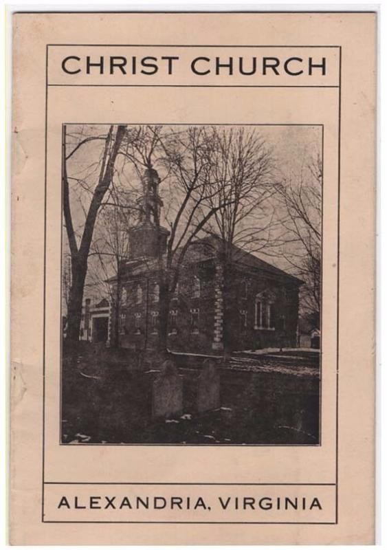 Vintage Historical Booklet, CHRIST CHURCH, Alexandria, Vi...