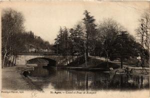 CPA AGEN - Canal et Pont de Rouquet (650707)