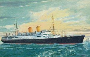 Oceanliner BERLIN , Norddeutscher Lloyd Bremen , 1950-60s