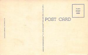 Officers' Club, Infantry School, Ft. Benning, Georgia, early Postcard, Unused
