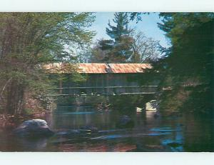 Unused Pre-1980 COVERED BRIDGE Warner New Hampshire NH t7380-12