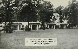 RPPC of Green Acres Tourist Court 5 Miles S of Elkton Maryland MD